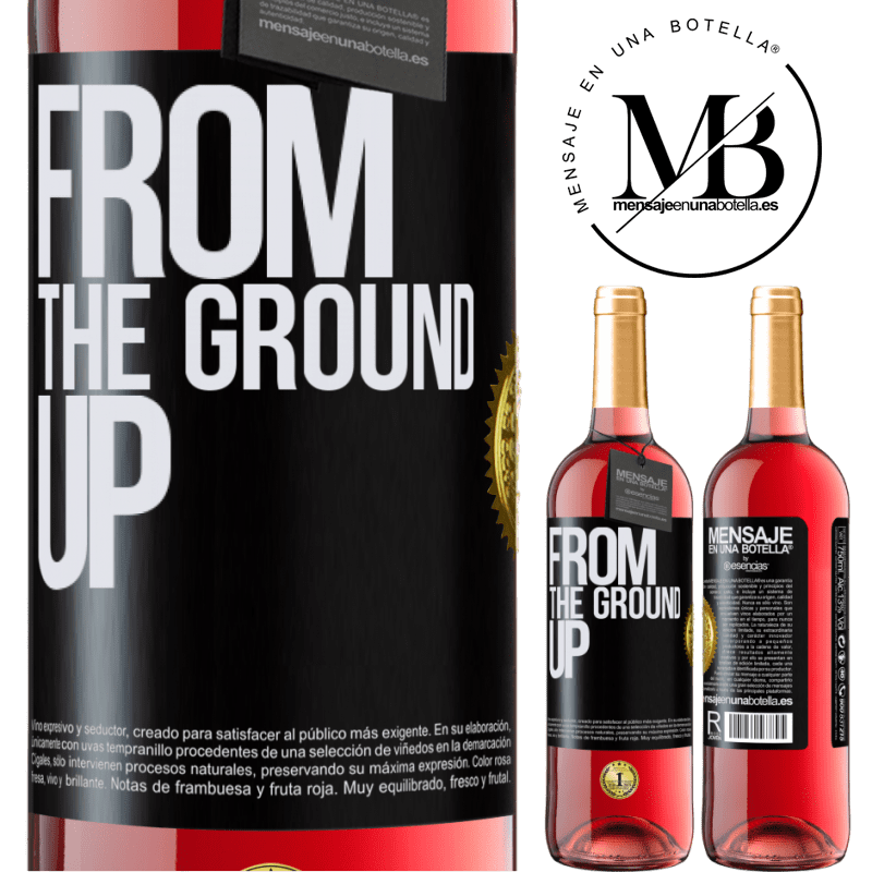 24,95 € Envoi gratuit | Vin rosé Édition ROSÉ From The Ground Up Étiquette Noire. Étiquette personnalisable Vin jeune Récolte 2020 Tempranillo