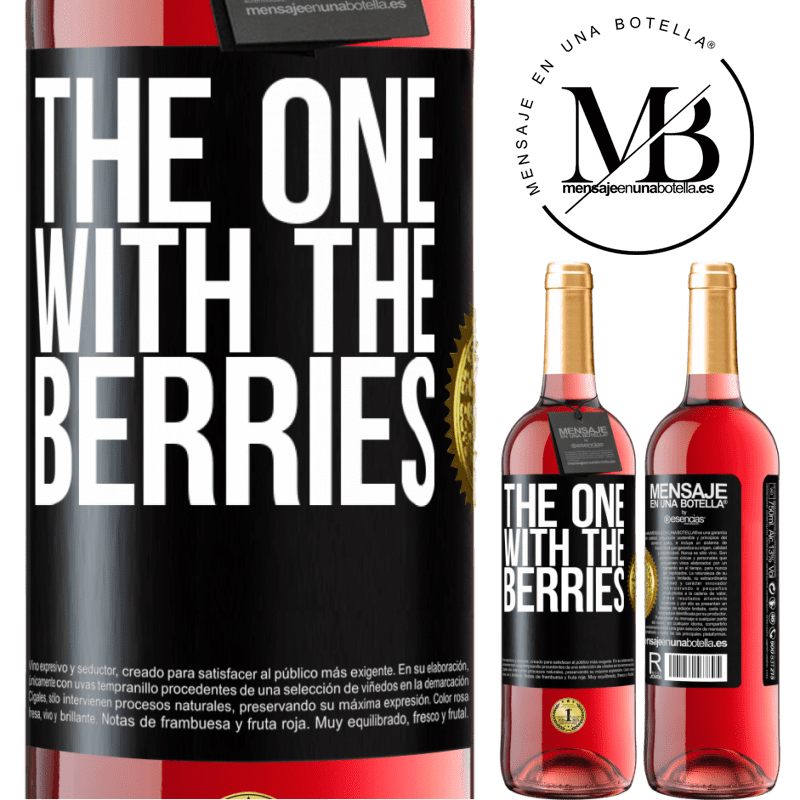 24,95 € Free Shipping | Rosé Wine ROSÉ Edition The one with the berries Black Label. Customizable label Young wine Harvest 2020 Tempranillo