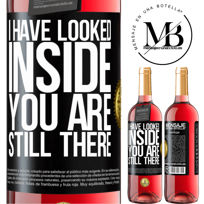 24,95 € Free Shipping | Rosé Wine ROSÉ Edition I have looked inside. You still there Black Label. Customizable label Young wine Harvest 2020 Tempranillo