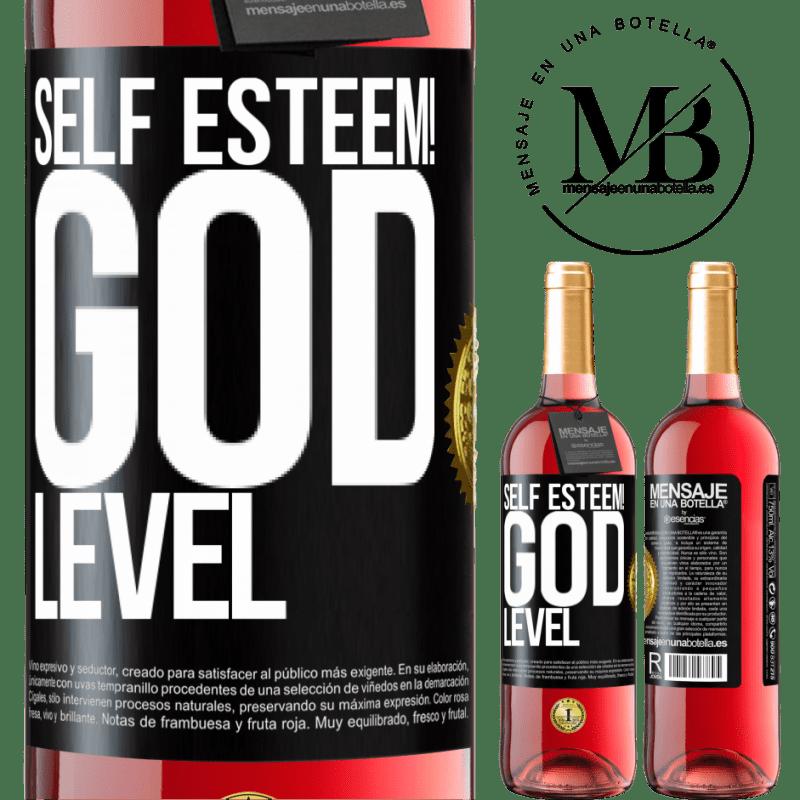 24,95 € Free Shipping   Rosé Wine ROSÉ Edition Self esteem! God level Black Label. Customizable label Young wine Harvest 2020 Tempranillo