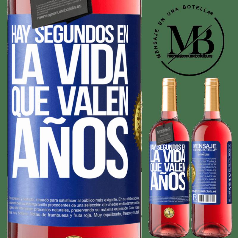 24,95 € Envoi gratuit | Vin rosé Édition ROSÉ Il y a des secondes dans la vie qui valent des années Étiquette Bleue. Étiquette personnalisable Vin jeune Récolte 2020 Tempranillo