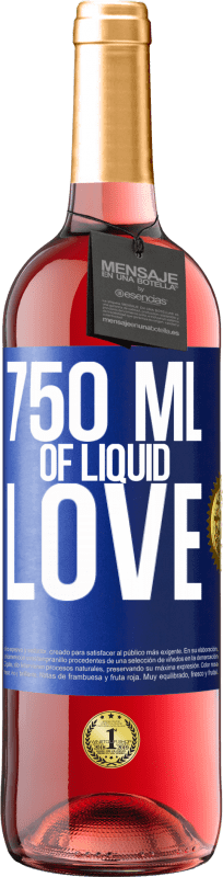 24,95 € | Rosé Wine ROSÉ Edition 750 ml of liquid love Blue Label. Customizable label Young wine Harvest 2020 Tempranillo
