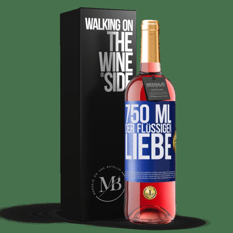 24,95 € Kostenloser Versand | Roséwein ROSÉ Ausgabe 750 ml der flüssigen Liebe Blaue Markierung. Anpassbares Etikett Junger Wein Ernte 2020 Tempranillo