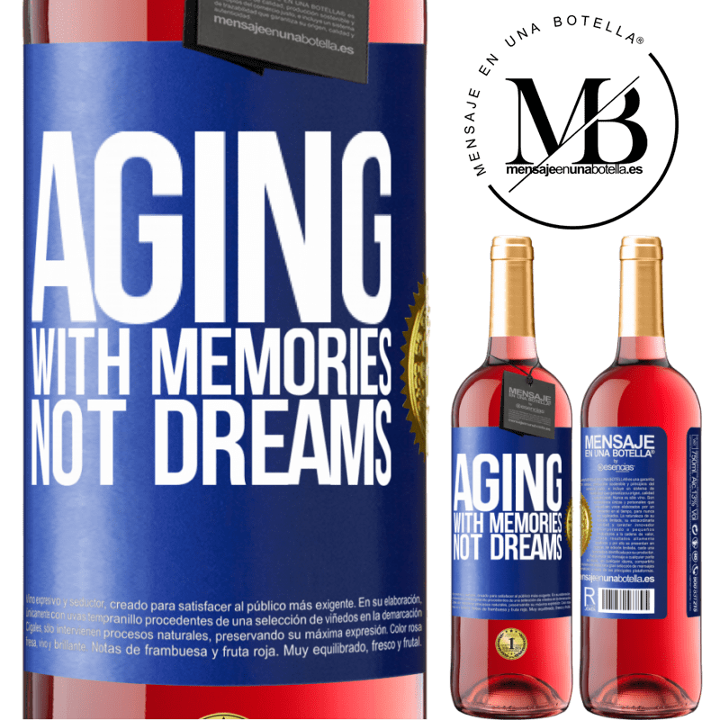 24,95 € Free Shipping | Rosé Wine ROSÉ Edition Aging with memories, not dreams Blue Label. Customizable label Young wine Harvest 2020 Tempranillo