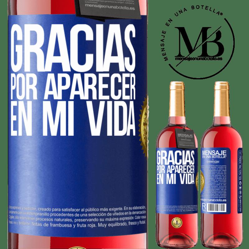 24,95 € Envoi gratuit | Vin rosé Édition ROSÉ Merci d'être venu dans ma vie Étiquette Bleue. Étiquette personnalisable Vin jeune Récolte 2020 Tempranillo