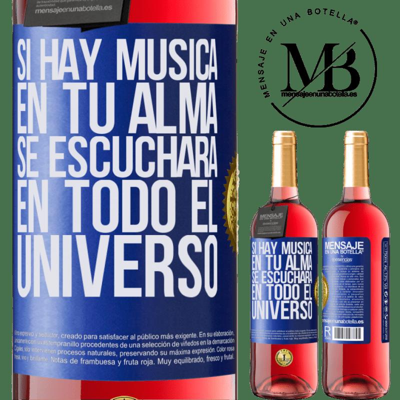 24,95 € Envoi gratuit   Vin rosé Édition ROSÉ S'il y a de la musique dans votre âme, elle sera entendue dans l'univers Étiquette Bleue. Étiquette personnalisable Vin jeune Récolte 2020 Tempranillo