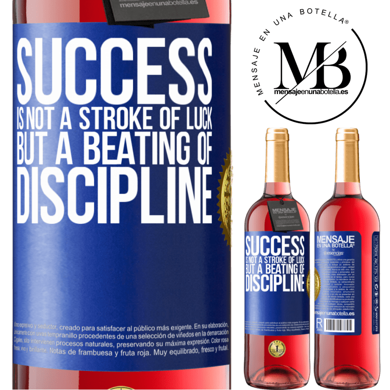 24,95 € Free Shipping | Rosé Wine ROSÉ Edition Success is not a stroke of luck, but a beating of discipline Blue Label. Customizable label Young wine Harvest 2020 Tempranillo