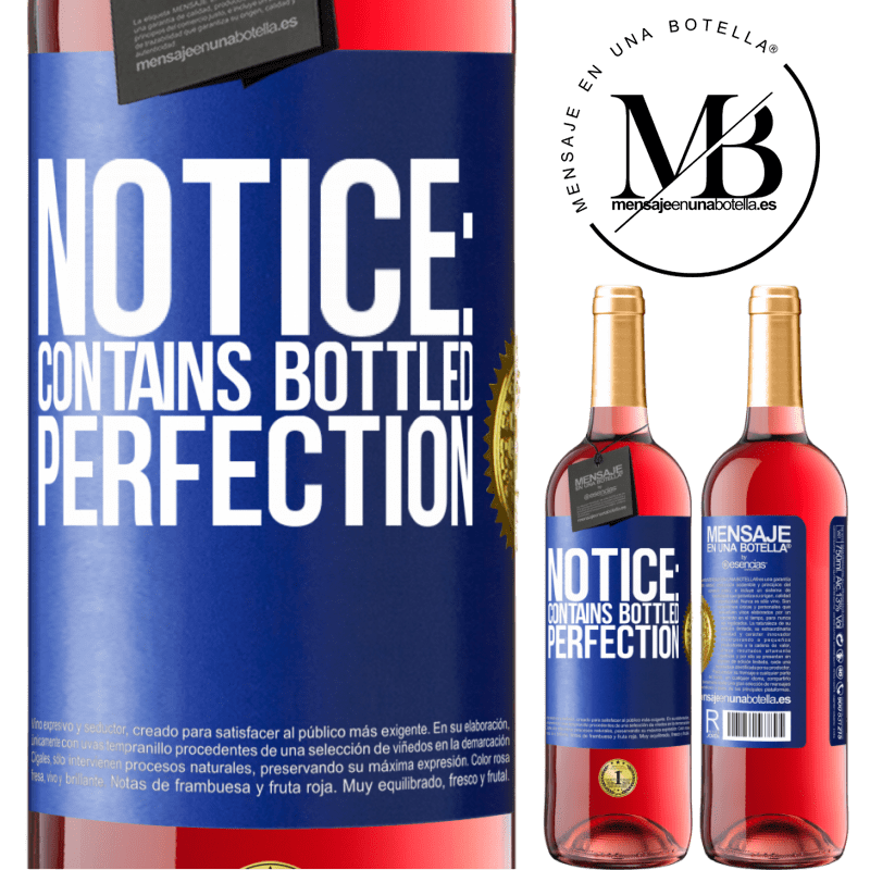 24,95 € Free Shipping   Rosé Wine ROSÉ Edition Notice: contains bottled perfection Blue Label. Customizable label Young wine Harvest 2020 Tempranillo
