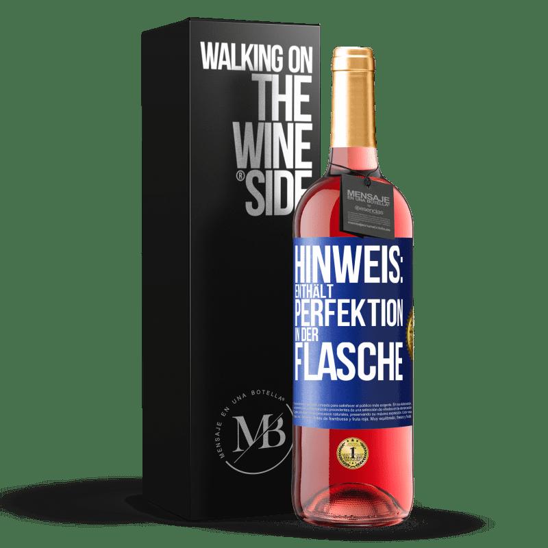 24,95 € Kostenloser Versand | Roséwein ROSÉ Ausgabe Hinweis: Enthält Perfektion in Flaschen Blaue Markierung. Anpassbares Etikett Junger Wein Ernte 2020 Tempranillo