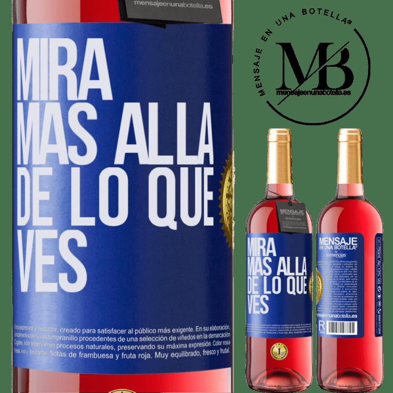 24,95 € Envoi gratuit   Vin rosé Édition ROSÉ Regardez au-delà de ce que vous voyez Étiquette Bleue. Étiquette personnalisable Vin jeune Récolte 2020 Tempranillo