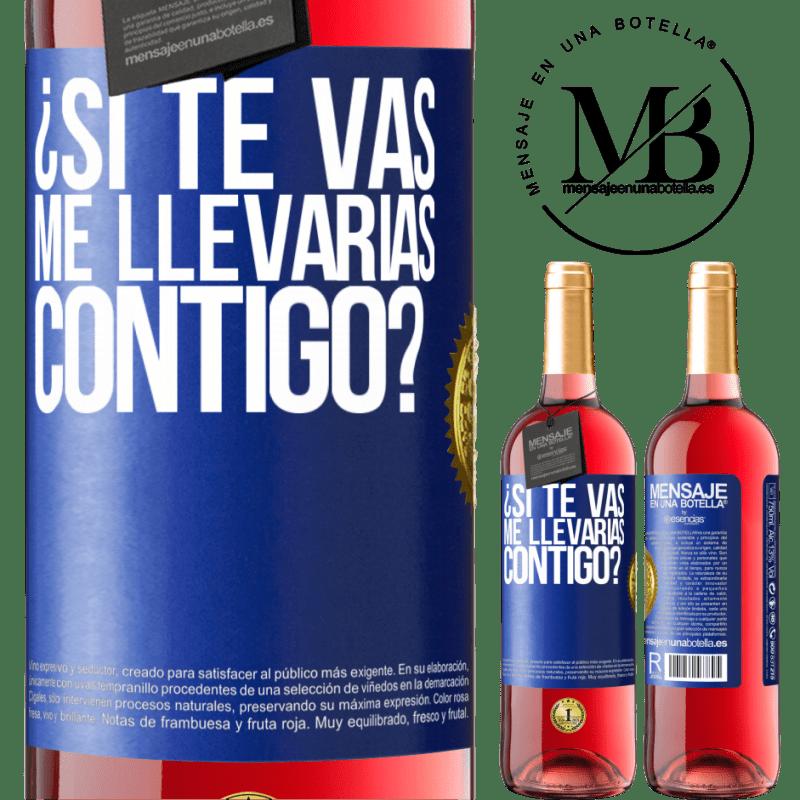 24,95 € Envoi gratuit   Vin rosé Édition ROSÉ si tu partais, m'emmènerais-tu avec toi? Étiquette Bleue. Étiquette personnalisable Vin jeune Récolte 2020 Tempranillo