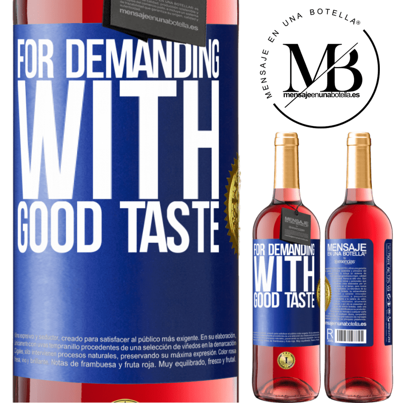 24,95 € Free Shipping   Rosé Wine ROSÉ Edition For demanding with good taste Blue Label. Customizable label Young wine Harvest 2020 Tempranillo