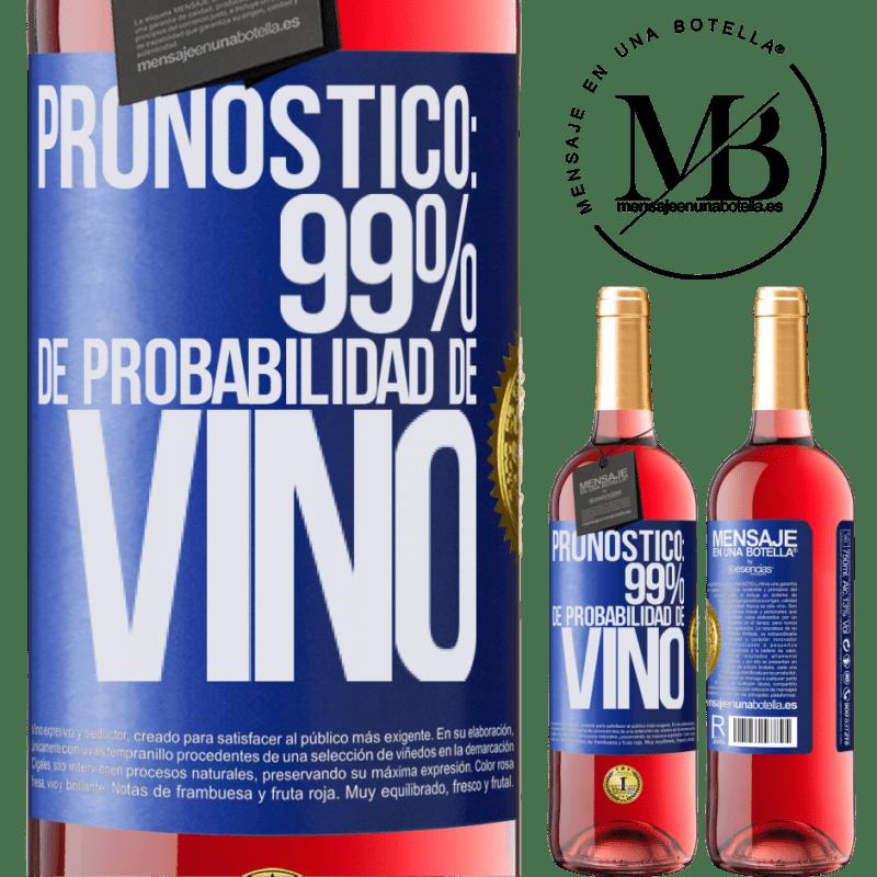 24,95 € Envoi gratuit   Vin rosé Édition ROSÉ Prévision: 99% de chances de vin Étiquette Bleue. Étiquette personnalisable Vin jeune Récolte 2020 Tempranillo