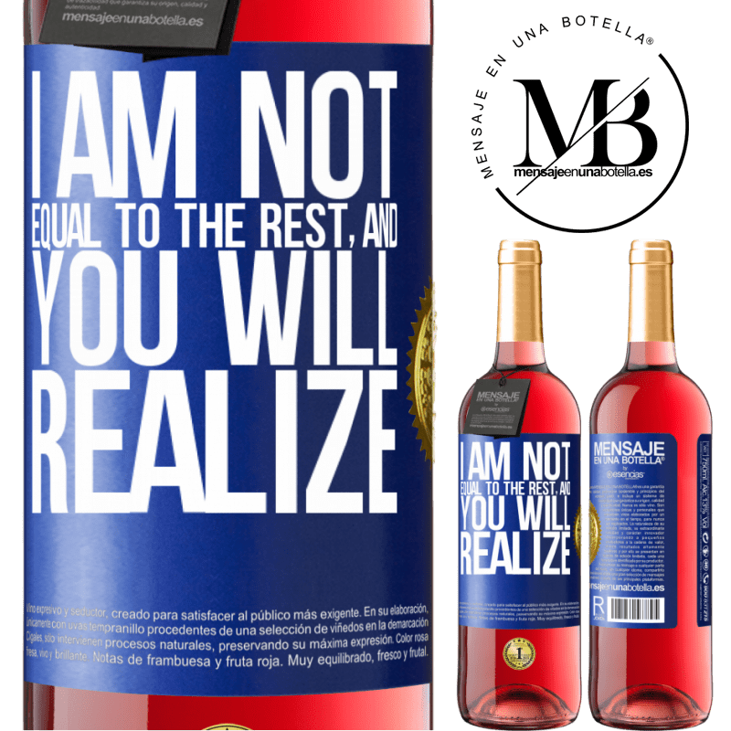 24,95 € Free Shipping | Rosé Wine ROSÉ Edition I am not equal to the rest, and you will realize Blue Label. Customizable label Young wine Harvest 2020 Tempranillo