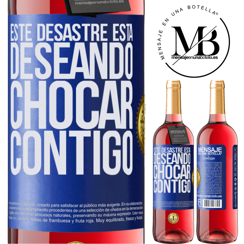 24,95 € Envoi gratuit   Vin rosé Édition ROSÉ Ce gâchis a hâte de vous croiser Étiquette Bleue. Étiquette personnalisable Vin jeune Récolte 2020 Tempranillo