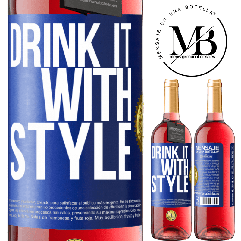 24,95 € Free Shipping | Rosé Wine ROSÉ Edition Drink it with style Blue Label. Customizable label Young wine Harvest 2020 Tempranillo