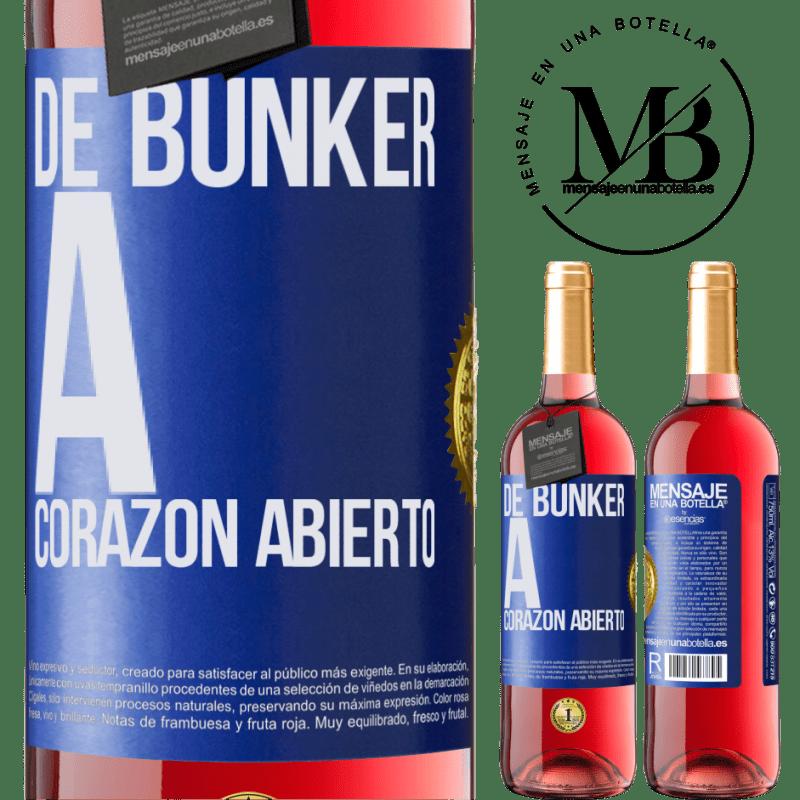 24,95 € Envoi gratuit   Vin rosé Édition ROSÉ Du bunker au cœur ouvert Étiquette Bleue. Étiquette personnalisable Vin jeune Récolte 2020 Tempranillo