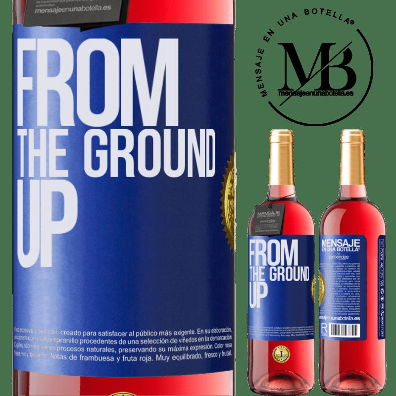 24,95 € Envoi gratuit | Vin rosé Édition ROSÉ From The Ground Up Étiquette Bleue. Étiquette personnalisable Vin jeune Récolte 2020 Tempranillo