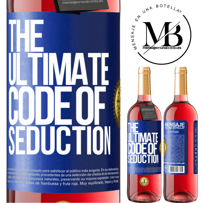 24,95 € Free Shipping | Rosé Wine ROSÉ Edition The ultimate code of seduction Blue Label. Customizable label Young wine Harvest 2020 Tempranillo