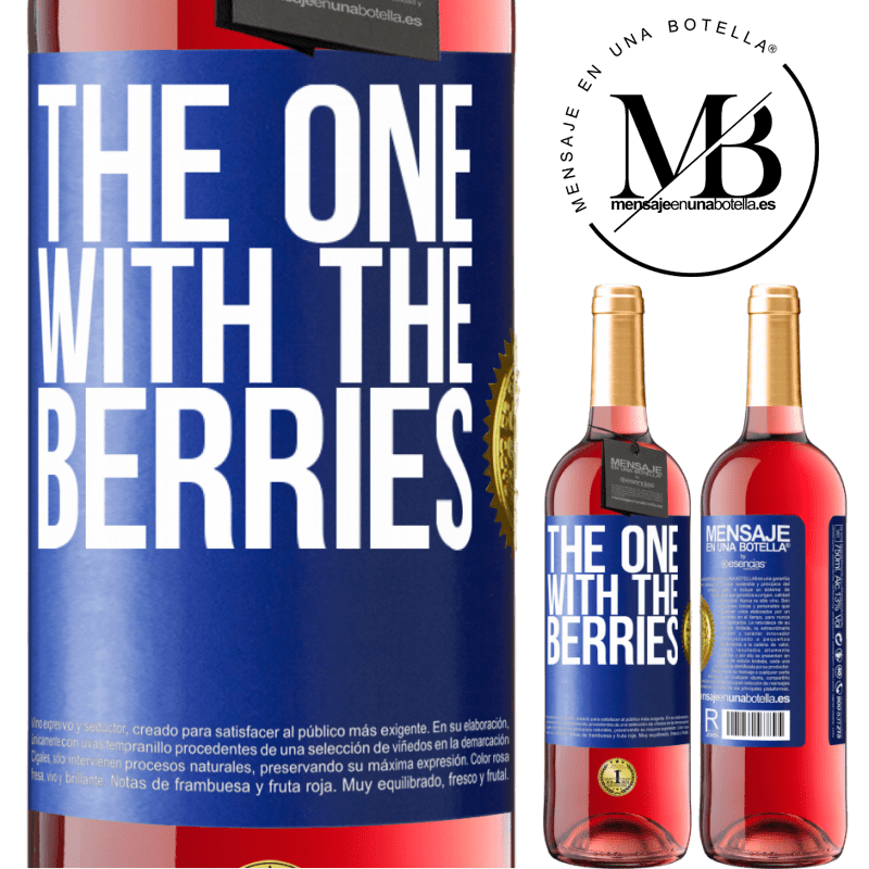 24,95 € Free Shipping | Rosé Wine ROSÉ Edition The one with the berries Blue Label. Customizable label Young wine Harvest 2020 Tempranillo