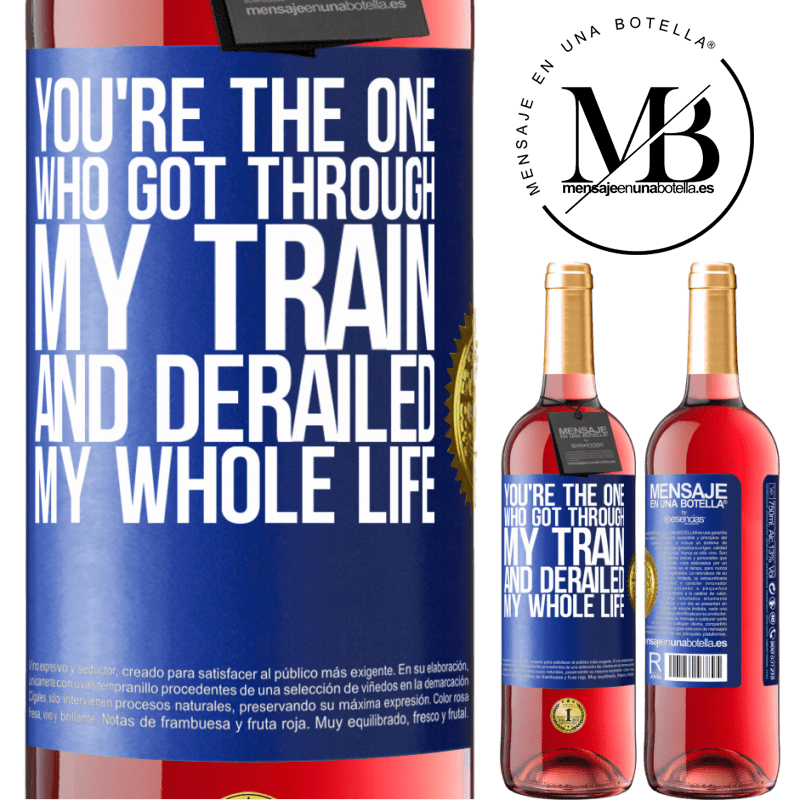 24,95 € Free Shipping | Rosé Wine ROSÉ Edition You're the one who got through my train and derailed my whole life Blue Label. Customizable label Young wine Harvest 2020 Tempranillo