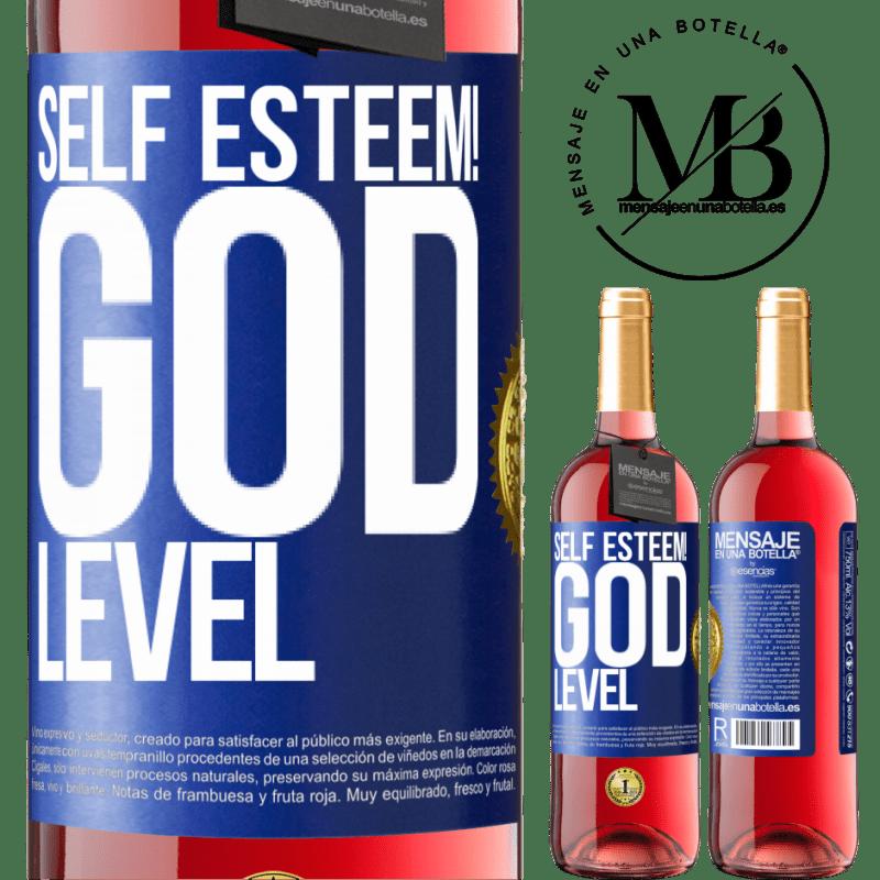 24,95 € Free Shipping   Rosé Wine ROSÉ Edition Self esteem! God level Blue Label. Customizable label Young wine Harvest 2020 Tempranillo