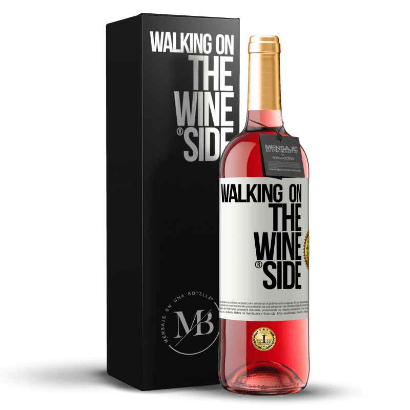 24,95 € Envoi gratuit | Vin rosé Édition ROSÉ Walking on the Wine Side® Étiquette Blanche. Étiquette personnalisable Vin jeune Récolte 2020 Tempranillo
