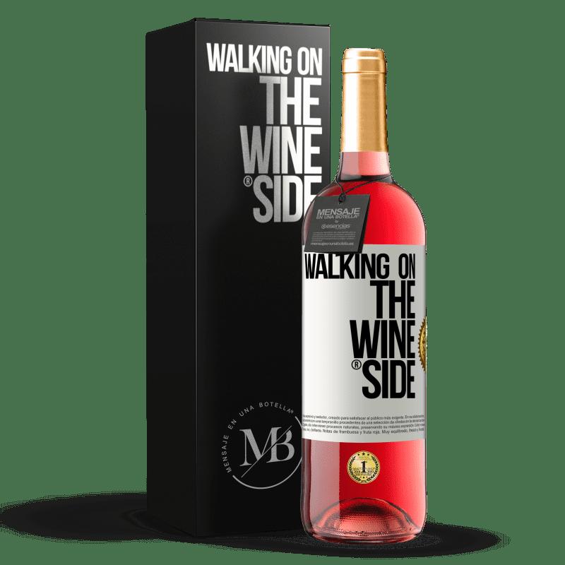 24,95 € Envío gratis | Vino Rosado Edición ROSÉ Walking on the Wine Side® Etiqueta Blanca. Etiqueta personalizable Vino joven Cosecha 2020 Tempranillo