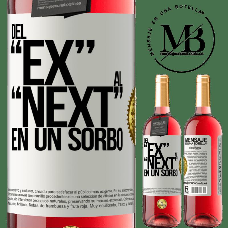 24,95 € Free Shipping | Rosé Wine ROSÉ Edition Del EX al NEXT en un sorbo White Label. Customizable label Young wine Harvest 2020 Tempranillo