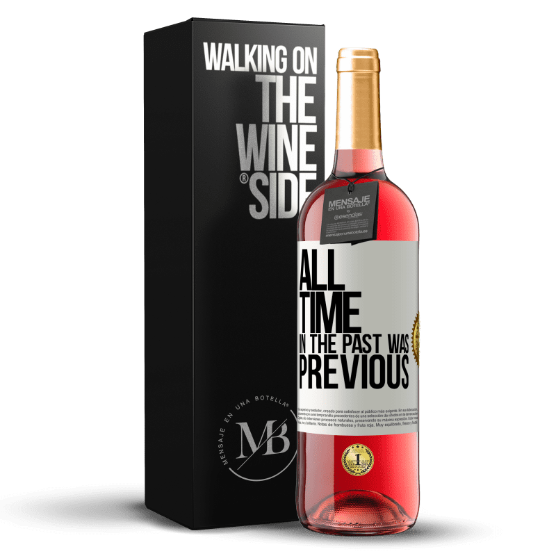 24,95 € Free Shipping | Rosé Wine ROSÉ Edition All time in the past, was previous White Label. Customizable label Young wine Harvest 2020 Tempranillo
