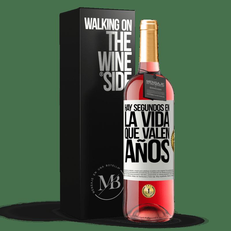 24,95 € Envoi gratuit | Vin rosé Édition ROSÉ Il y a des secondes dans la vie qui valent des années Étiquette Blanche. Étiquette personnalisable Vin jeune Récolte 2020 Tempranillo