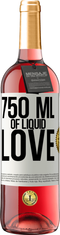 24,95 € | Rosé Wine ROSÉ Edition 750 ml of liquid love White Label. Customizable label Young wine Harvest 2020 Tempranillo