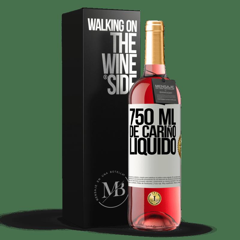 24,95 € Envío gratis | Vino Rosado Edición ROSÉ 750 ml. de cariño líquido Etiqueta Blanca. Etiqueta personalizable Vino joven Cosecha 2020 Tempranillo
