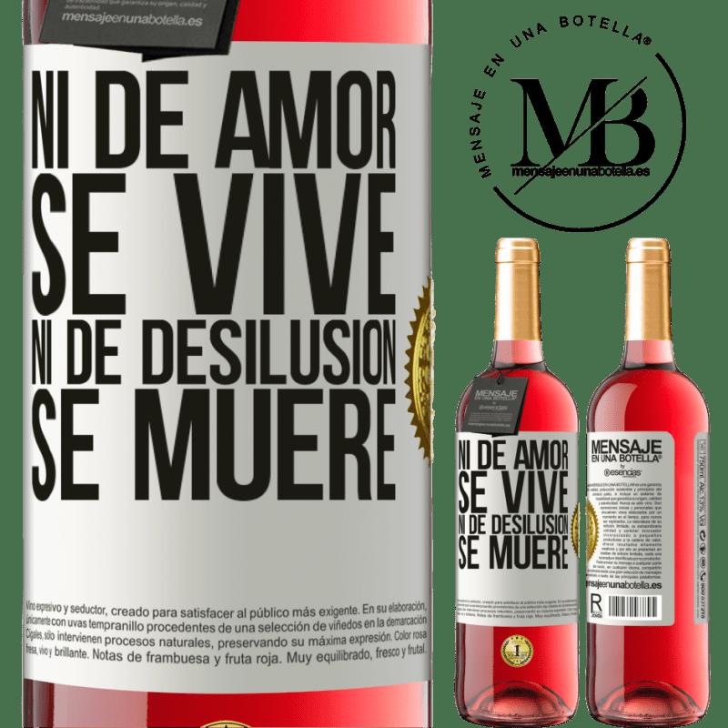 24,95 € Envoi gratuit | Vin rosé Édition ROSÉ Ni l'amour ne vit, ni la déception ne meurt Étiquette Blanche. Étiquette personnalisable Vin jeune Récolte 2020 Tempranillo