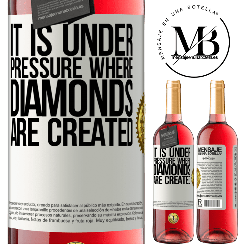 24,95 € Free Shipping | Rosé Wine ROSÉ Edition It is under pressure where diamonds are created White Label. Customizable label Young wine Harvest 2020 Tempranillo