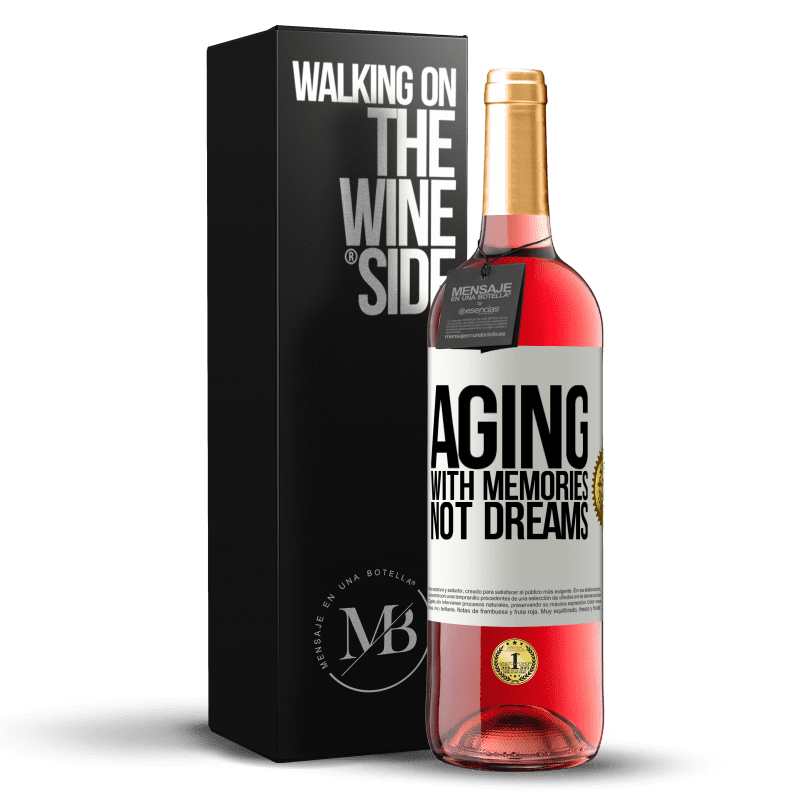 24,95 € Free Shipping | Rosé Wine ROSÉ Edition Aging with memories, not dreams White Label. Customizable label Young wine Harvest 2020 Tempranillo