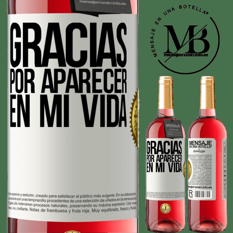 24,95 € Envoi gratuit | Vin rosé Édition ROSÉ Merci d'être venu dans ma vie Étiquette Blanche. Étiquette personnalisable Vin jeune Récolte 2020 Tempranillo