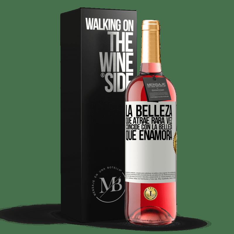 24,95 € Envoi gratuit | Vin rosé Édition ROSÉ La beauté qui attire correspond rarement à la beauté qui tombe amoureuse Étiquette Blanche. Étiquette personnalisable Vin jeune Récolte 2020 Tempranillo