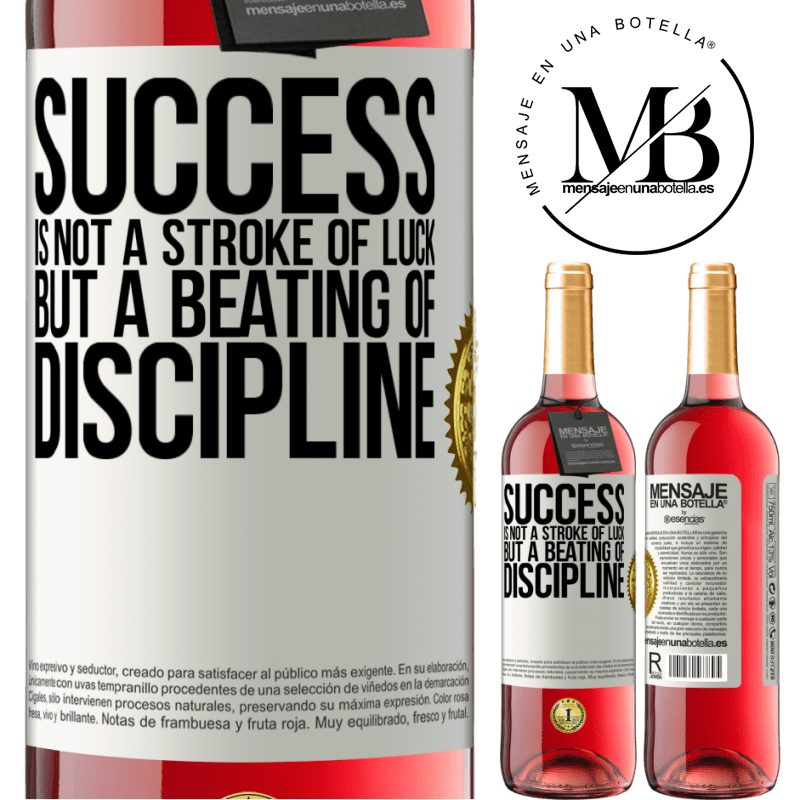 24,95 € Free Shipping | Rosé Wine ROSÉ Edition Success is not a stroke of luck, but a beating of discipline White Label. Customizable label Young wine Harvest 2020 Tempranillo