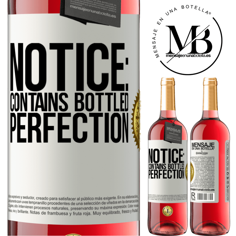 24,95 € Free Shipping   Rosé Wine ROSÉ Edition Notice: contains bottled perfection White Label. Customizable label Young wine Harvest 2020 Tempranillo