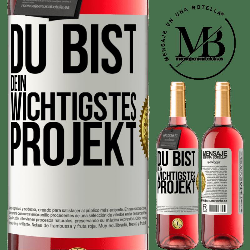 24,95 € Kostenloser Versand | Roséwein ROSÉ Ausgabe Sie sind Ihr wichtigstes Projekt Weißes Etikett. Anpassbares Etikett Junger Wein Ernte 2020 Tempranillo