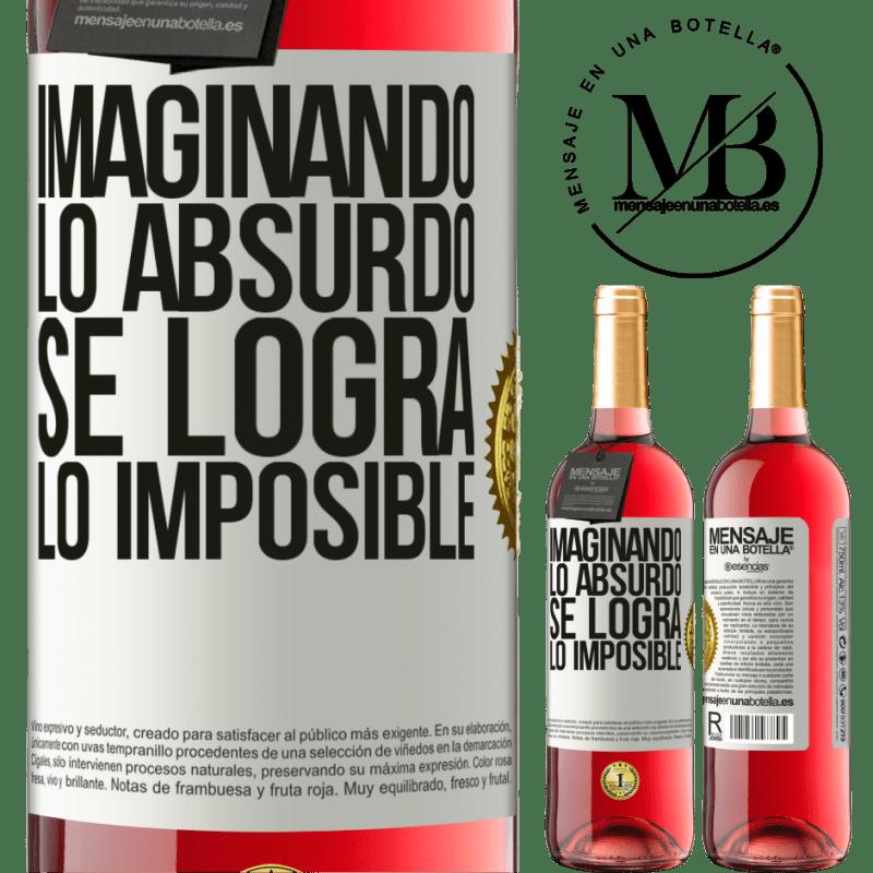 24,95 € Envoi gratuit   Vin rosé Édition ROSÉ Imaginer l'absurde réalise l'impossible Étiquette Blanche. Étiquette personnalisable Vin jeune Récolte 2020 Tempranillo