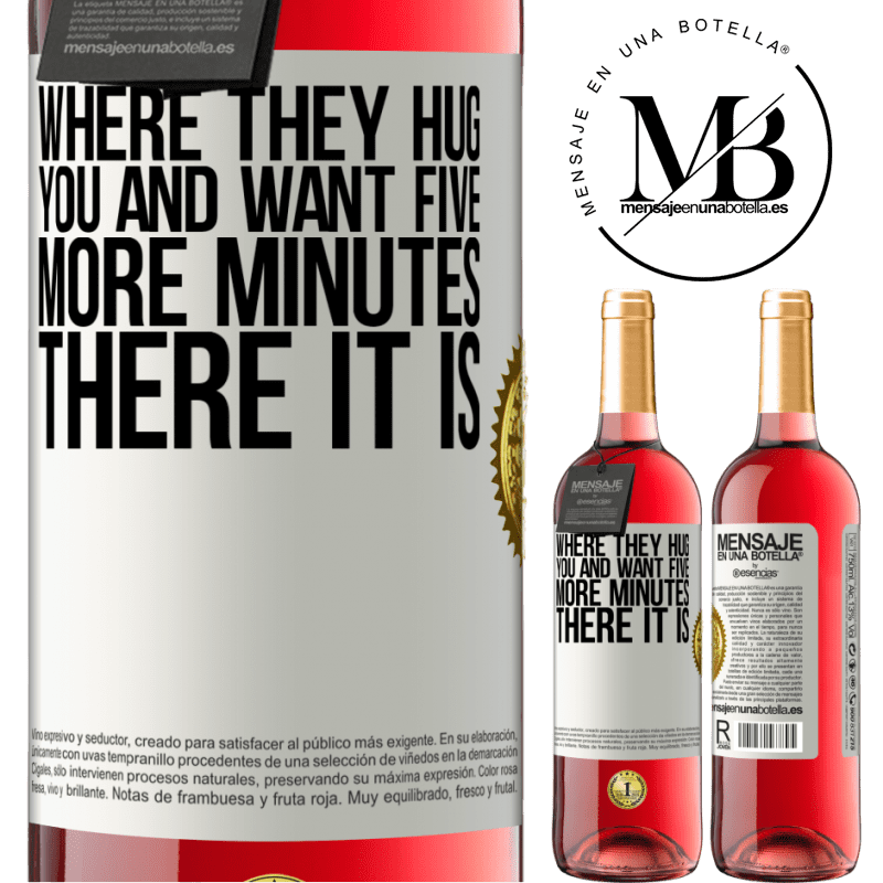 24,95 € Free Shipping   Rosé Wine ROSÉ Edition Where they hug you and want five more minutes, there it is White Label. Customizable label Young wine Harvest 2020 Tempranillo