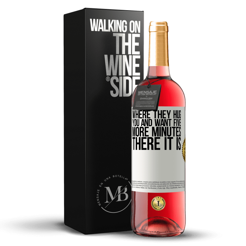 24,95 € Free Shipping | Rosé Wine ROSÉ Edition Where they hug you and want five more minutes, there it is White Label. Customizable label Young wine Harvest 2020 Tempranillo