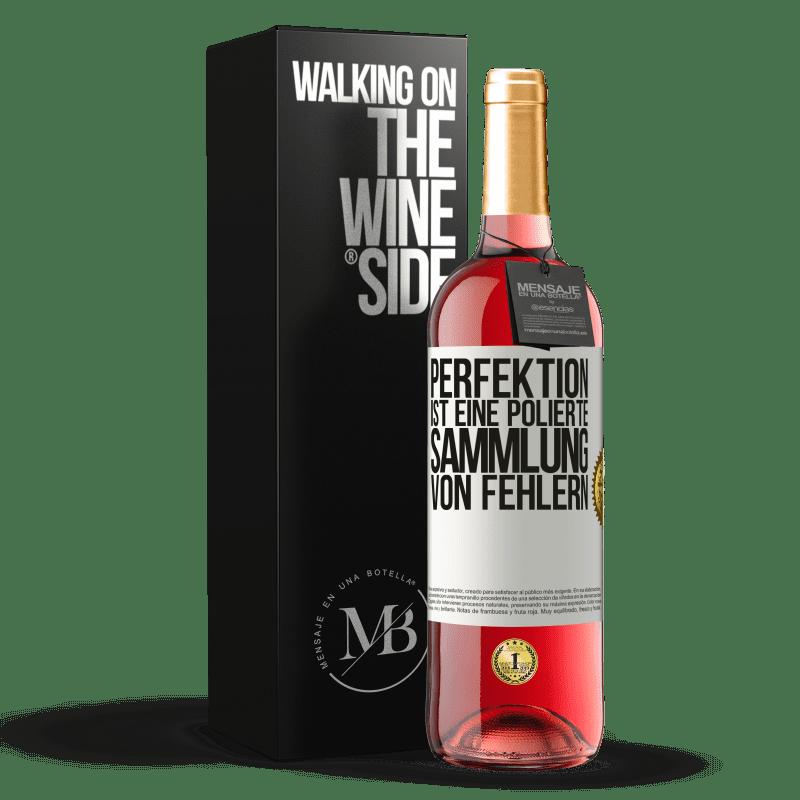 24,95 € Kostenloser Versand | Roséwein ROSÉ Ausgabe Perfektion ist eine polierte Sammlung von Fehlern Weißes Etikett. Anpassbares Etikett Junger Wein Ernte 2020 Tempranillo