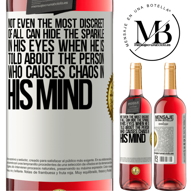 24,95 € Free Shipping   Rosé Wine ROSÉ Edition Not even the most discreet of all can hide the sparkle in his eyes when he is told about the person who causes chaos in his White Label. Customizable label Young wine Harvest 2020 Tempranillo