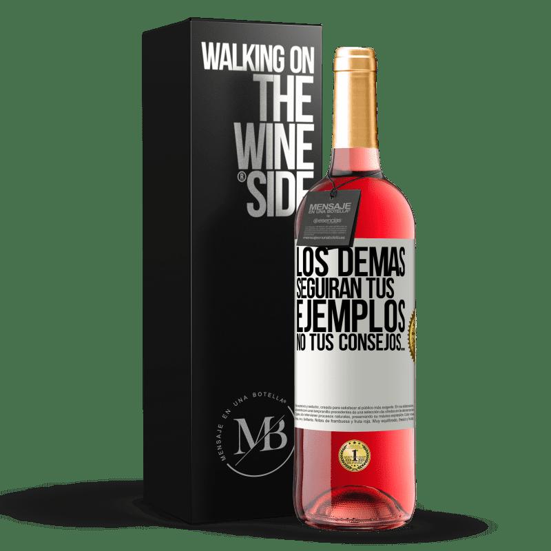 24,95 € Envoi gratuit   Vin rosé Édition ROSÉ Les autres suivront vos exemples, pas vos conseils Étiquette Blanche. Étiquette personnalisable Vin jeune Récolte 2020 Tempranillo
