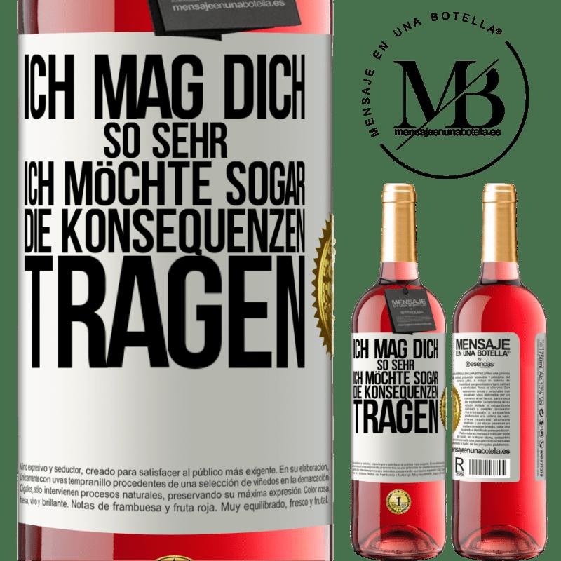 24,95 € Kostenloser Versand | Roséwein ROSÉ Ausgabe Ich möchte, dass Sie die Konsequenzen tragen Weißes Etikett. Anpassbares Etikett Junger Wein Ernte 2020 Tempranillo