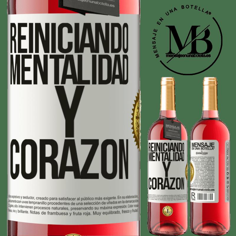 24,95 € Envoi gratuit   Vin rosé Édition ROSÉ Réinitialisation de la mentalité et du cœur Étiquette Blanche. Étiquette personnalisable Vin jeune Récolte 2020 Tempranillo