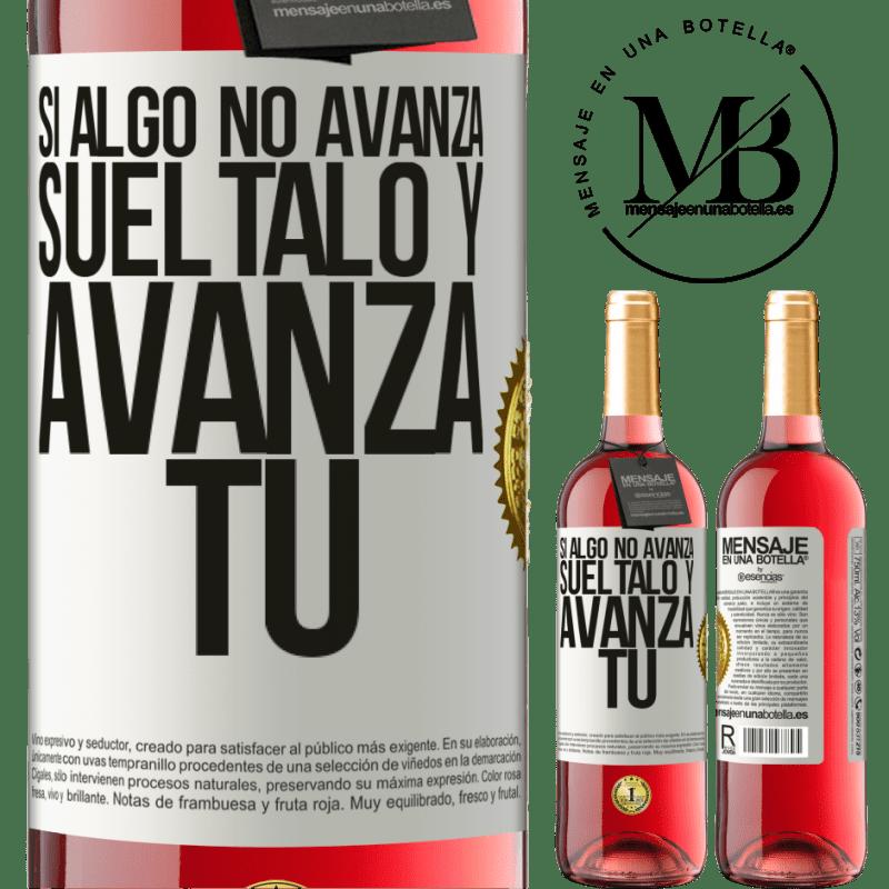 24,95 € Envoi gratuit   Vin rosé Édition ROSÉ Si quelque chose ne progresse pas, relâchez-le et avancez Étiquette Blanche. Étiquette personnalisable Vin jeune Récolte 2020 Tempranillo